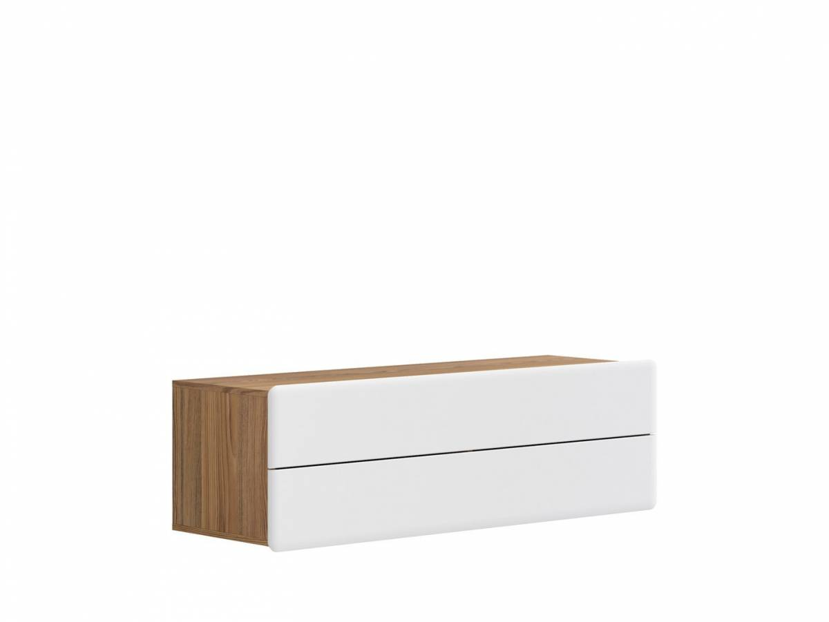 TV stolík/skrinka Possi Light RTV2S 4/13 (smrekovec sibiu zlatý + lesk biely)