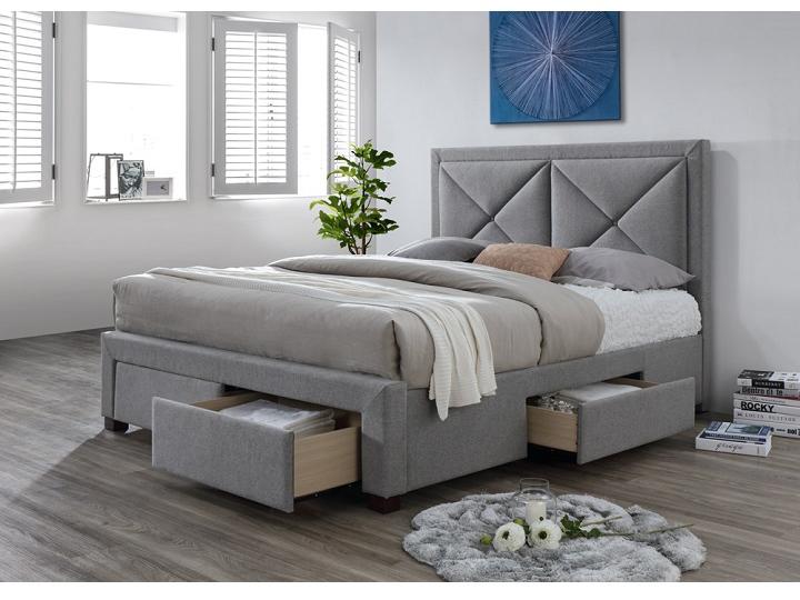 Manželská posteľ 180 cm Xadra (s roštom a úl. priestorom)