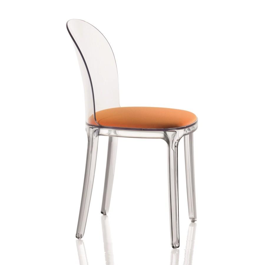 Stolička s oranžovým sedákom Magis Vanity