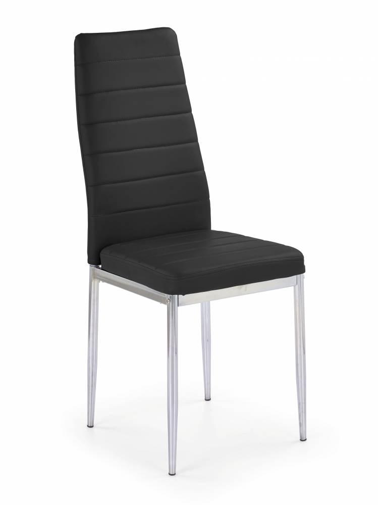 Jedálenská stolička K70C-NEW (chrómová + čierna)