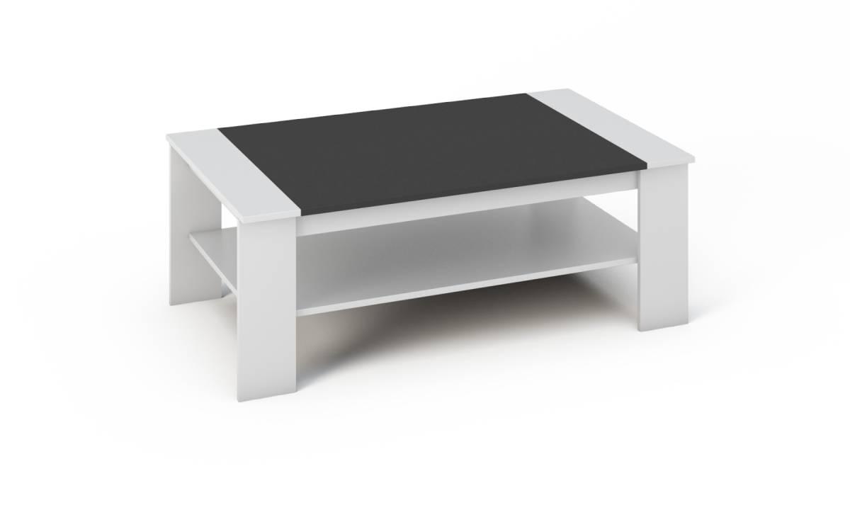 BARNY konferenčný stolík čierna/biela