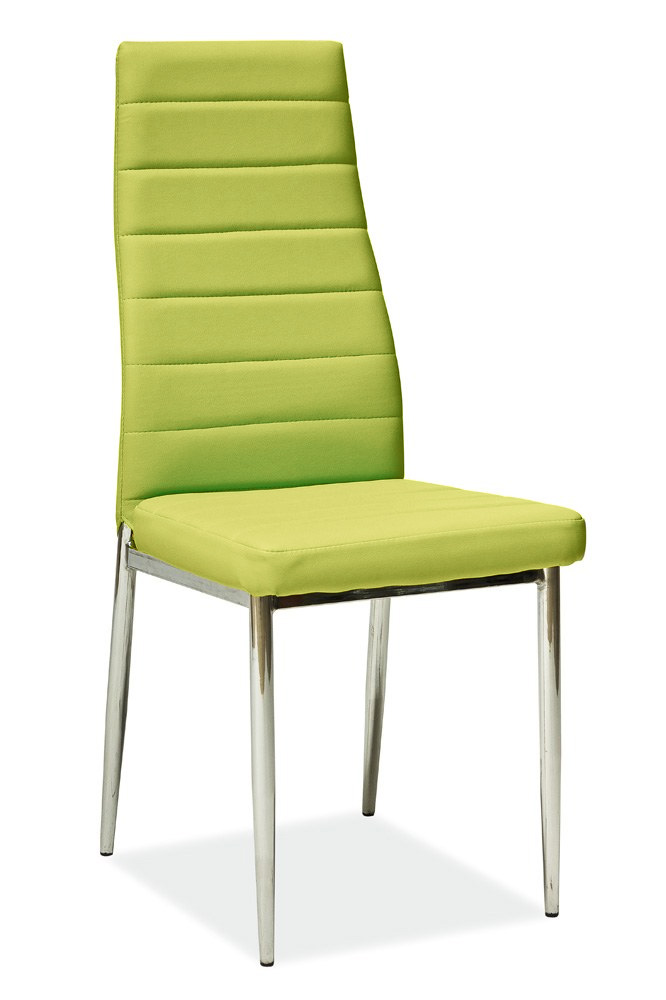 Jedálenská stolička HRON-261, zelená/chróm