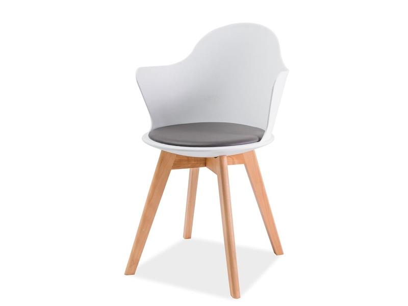 MATT III jedálenská stolička, buk/biela