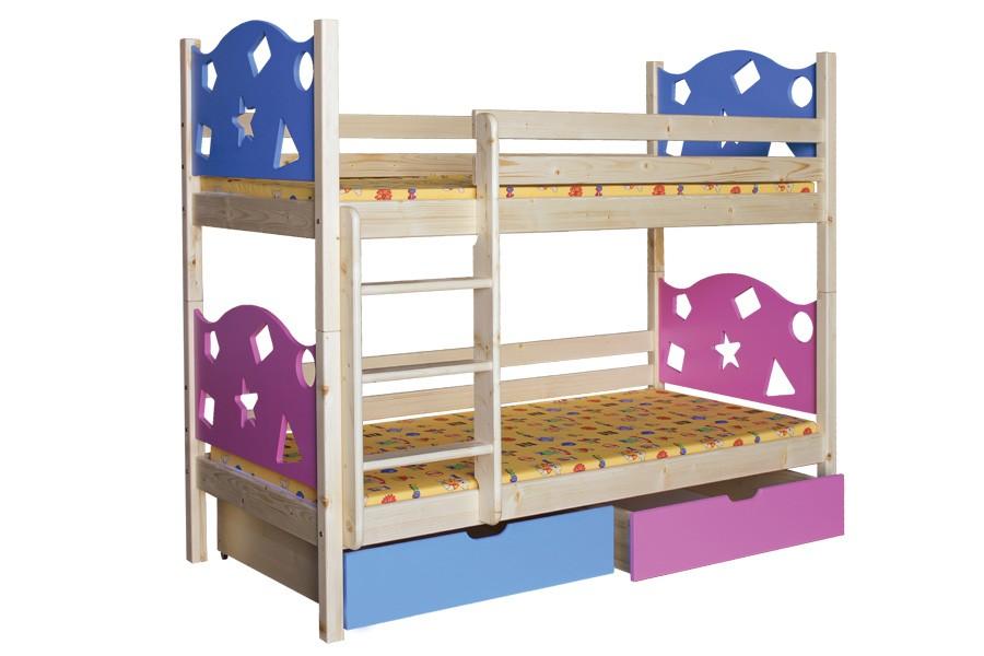 Bradop Poschodová posteľ VALENTÍN (základné prevedenie) B413-80x180