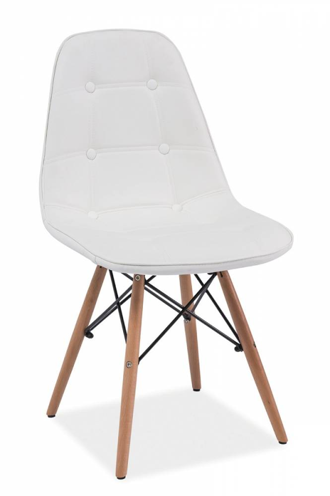 Jedálenská stolička LEXA, buk/biela