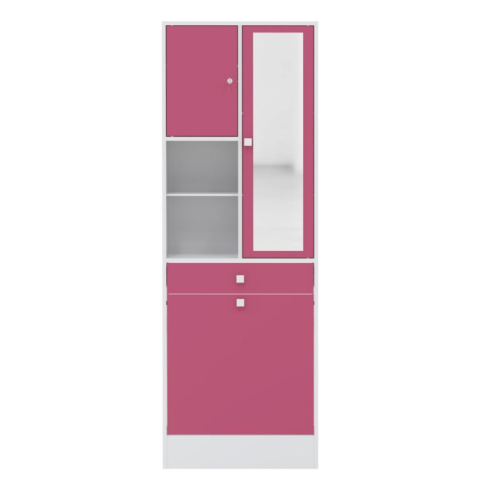Ružová kúpeľňová skrinka Symbiosis André, šírka 62,6cm