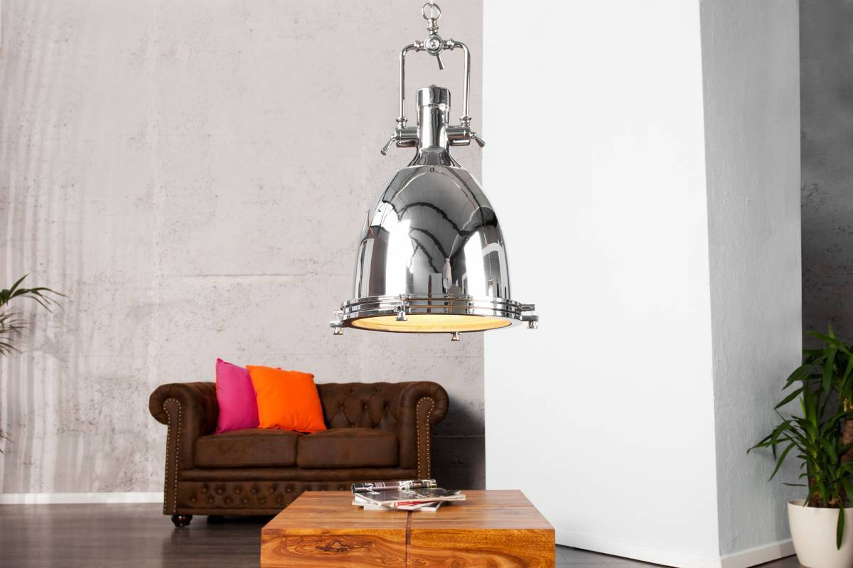 Visiaca lampa INDUSTRIAL - chrómová