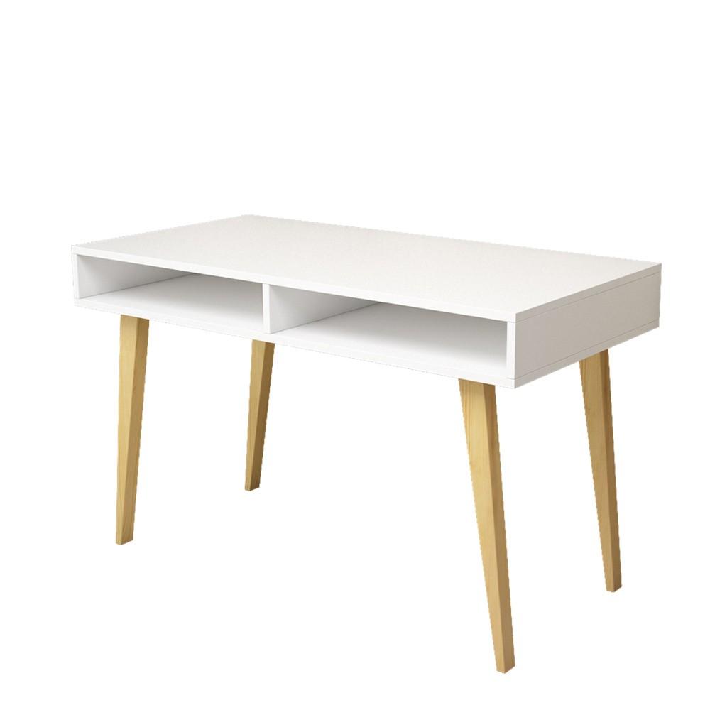 Biely pracovný stôl Magenta Home Study Ben