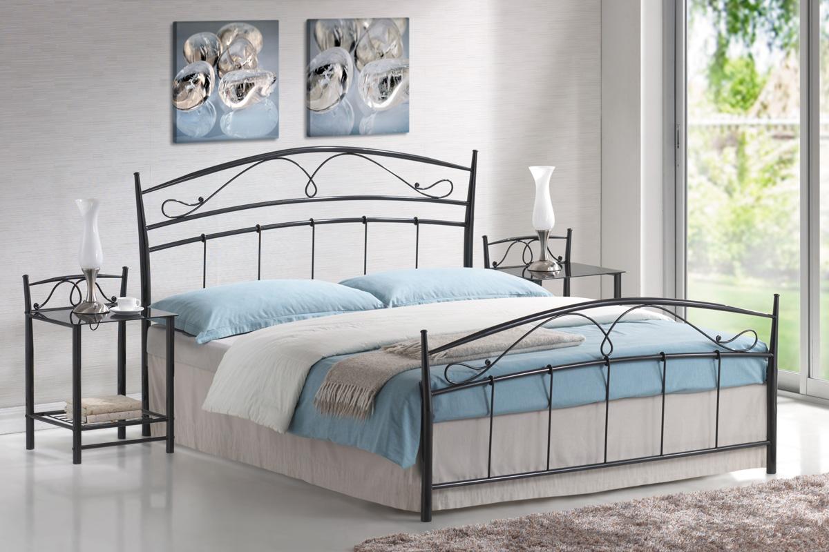 SIGNAL SIENA 160 posteľ s roštom - čierna