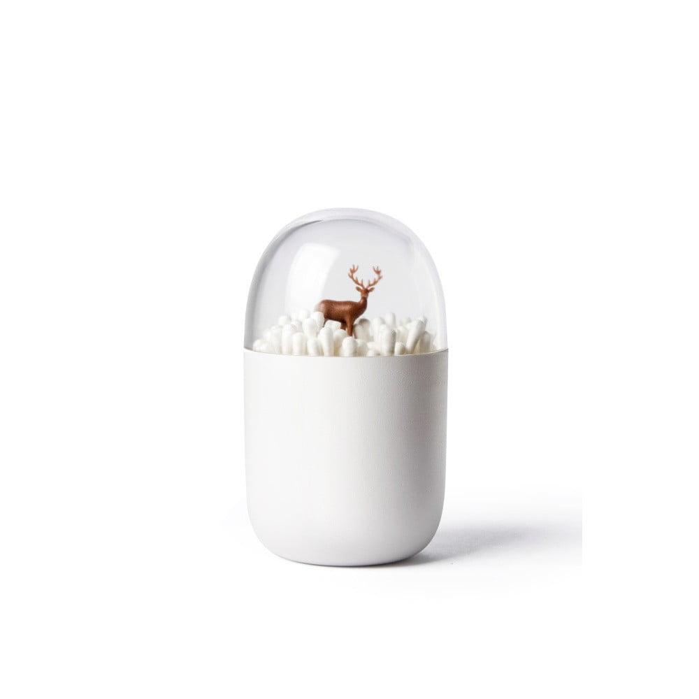 Biely stojan na vatové tyčinky Qualy&CO Deeryard