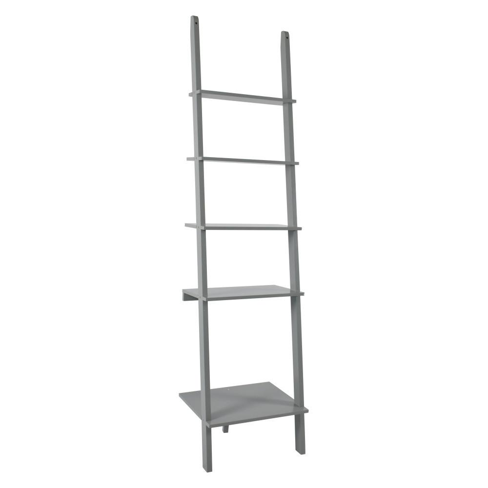 Sivý rebrík s poličkami RGE Emil,200x50cm