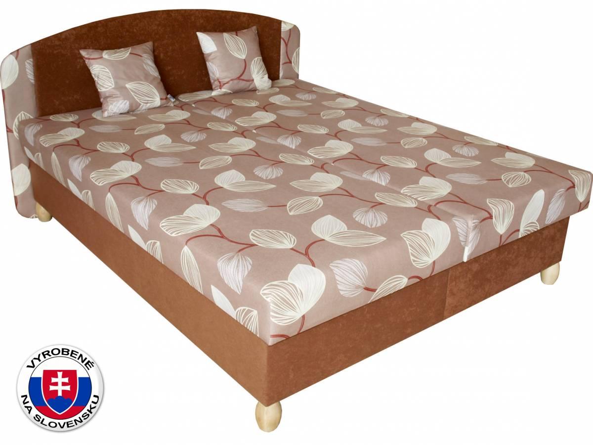 Manželská posteľ 180 cm Benab Paris Melody hnedá/Vento hnedá (s roštami, matracmi a 2 ks vankúšov)
