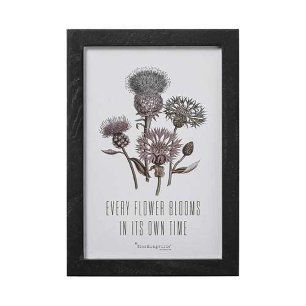 Obraz Bloomingville Lovely Flower Blooms, 30×20 cm
