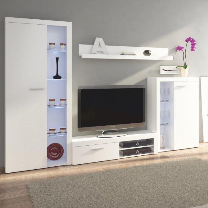 TEMPO KONDELA ROCHESTER obývacia stena - biela