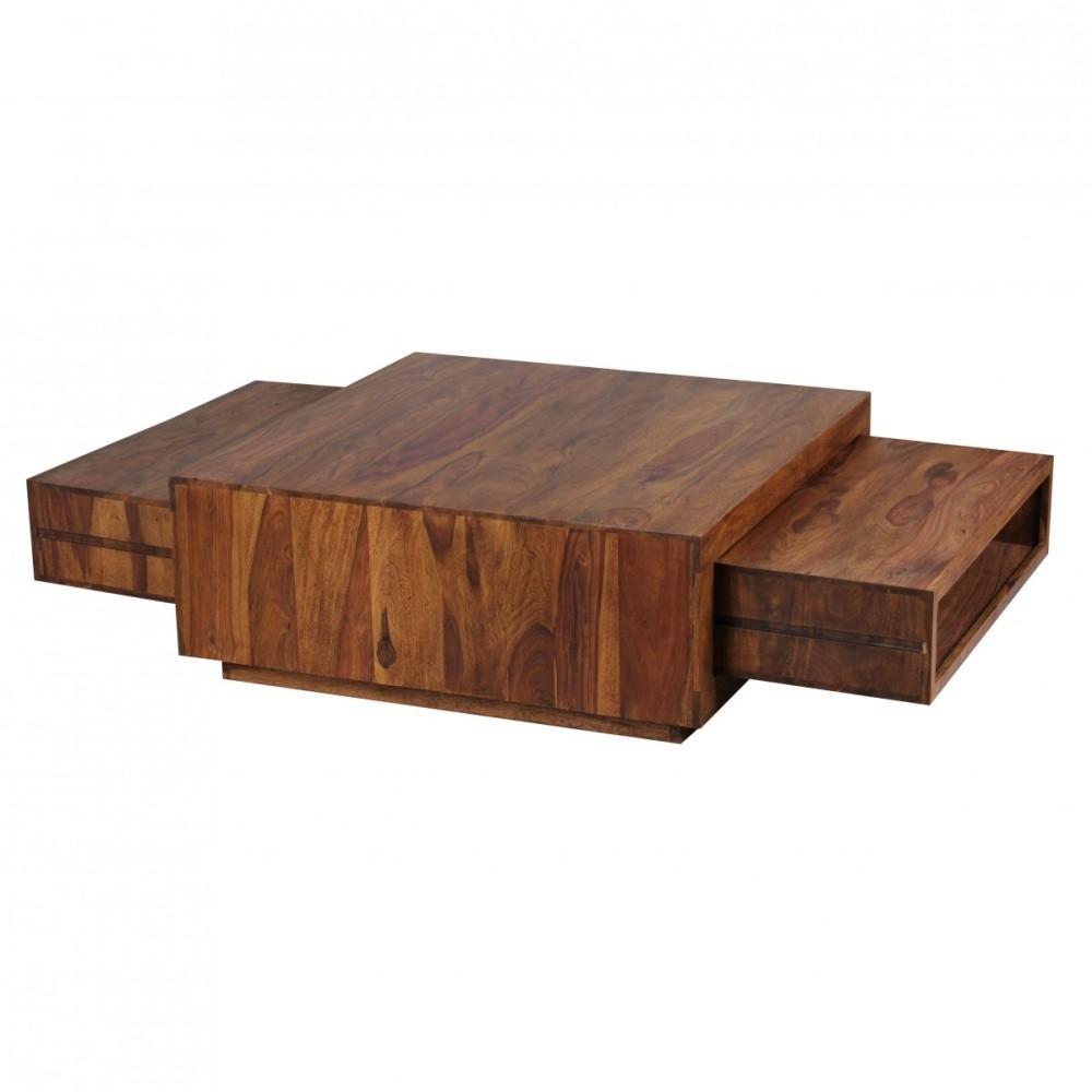 Konferenčný stolík z masívneho palisandrového dreva s 2 zásuvkami Skyport Yesenia