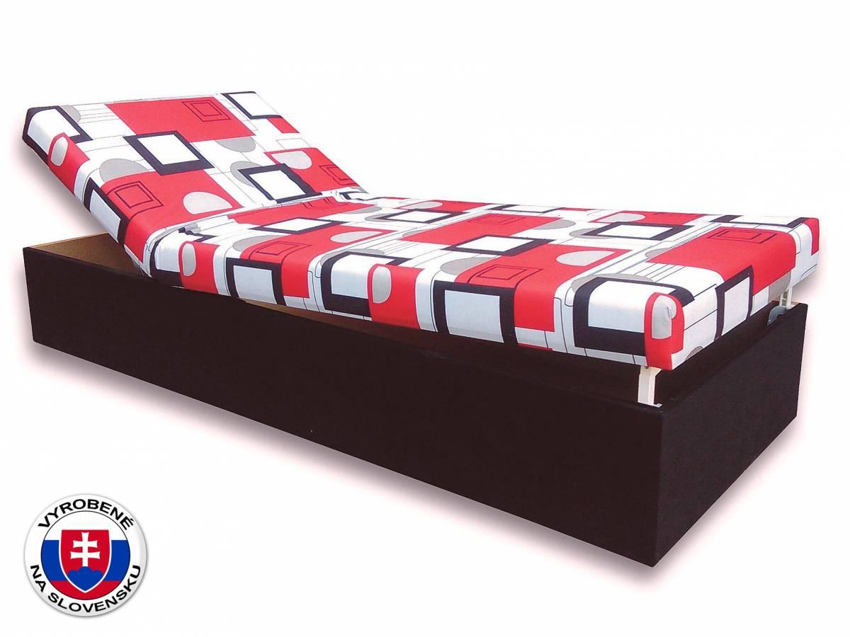 Jednolôžková posteľ (váľanda) 80 cm Darina (Čierna 39 + Otawa 1)