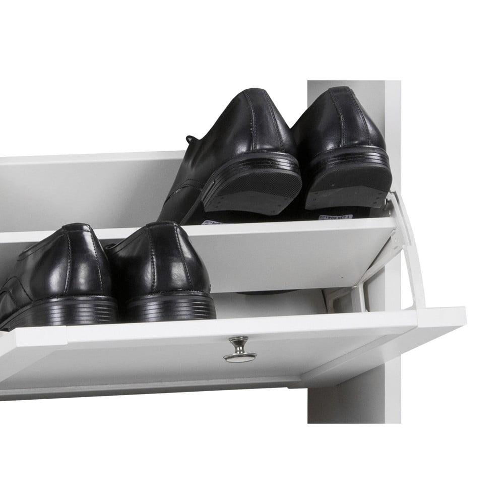 Biela vyklápacia skrinka na topánky Intertrade Landwood