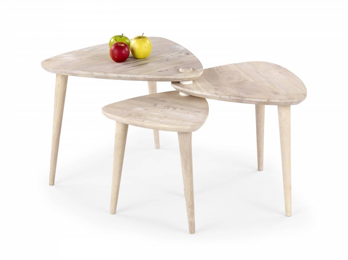 Konferenčný stolík Corsica (white washed wood)