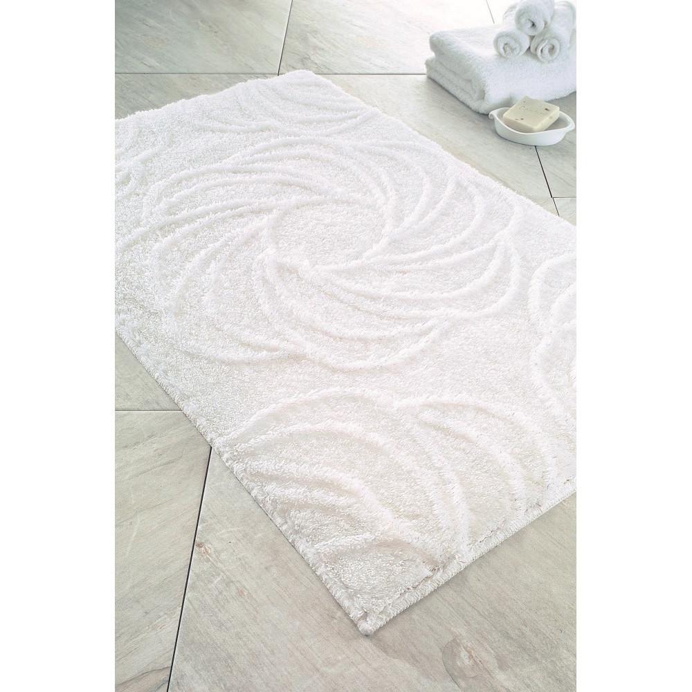 Biela predložka do kúpeľne Confetti Bathmats Afrodis, 60x100cm