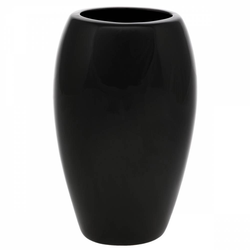 Keramická váza Jar1, 14 x 24 x 10 cm, čierna