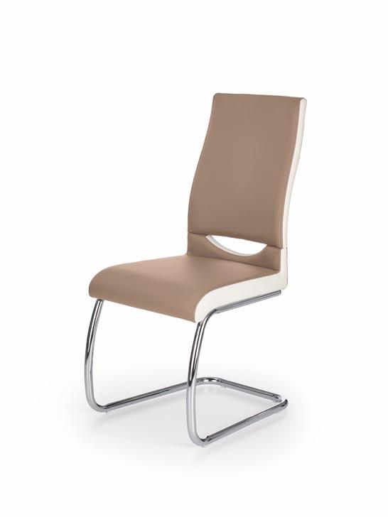 Jedálenská stolička K259 (cappuccino + Biela)