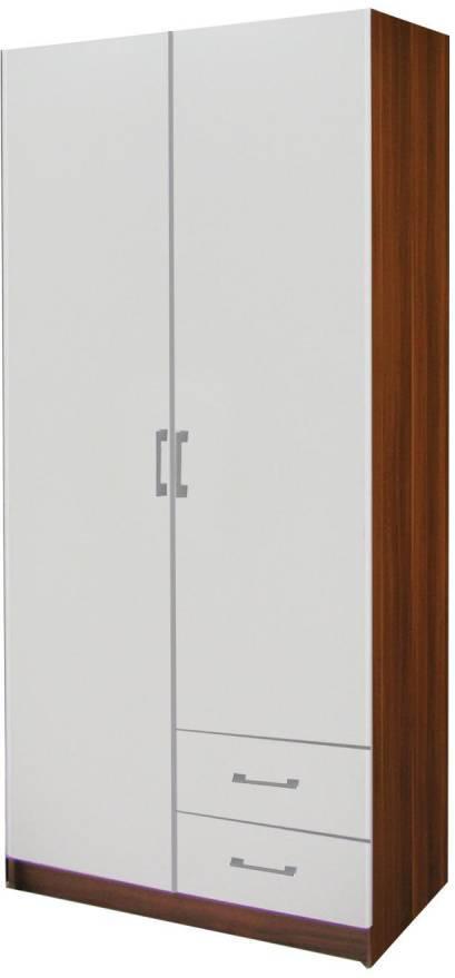Skriňa ESO  2 dverová 61521 orech / biela
