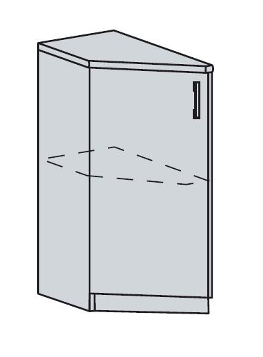 PROVENSAL dolný ukončovací roh 30DR šedá