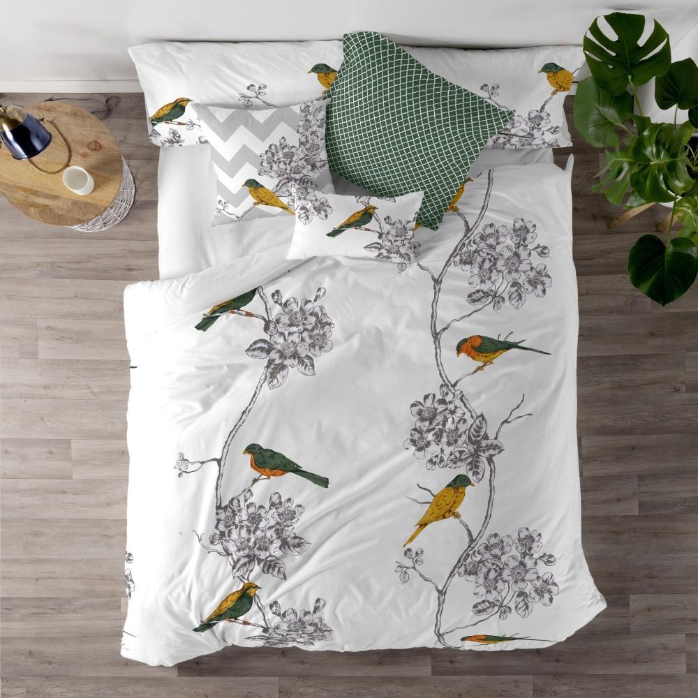 Bavlnená obliečka na perinu Happy Friday Spring Birds, 155×220 cm