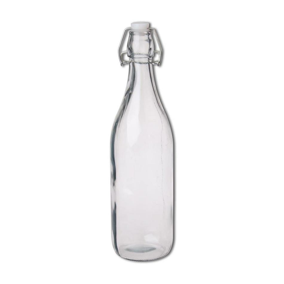 Orion Sklenená fľaša s Clip uzáverom, 1 l