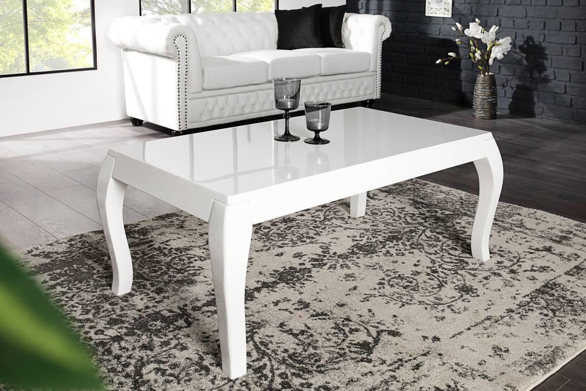 Konferenčný stolík BAROK 110 cm - biela