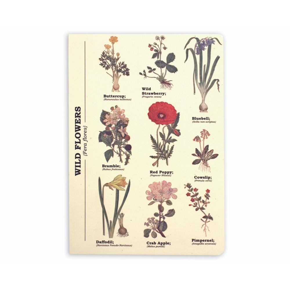 Zápisník Gift Republic Wild Flowers, veľ.A5