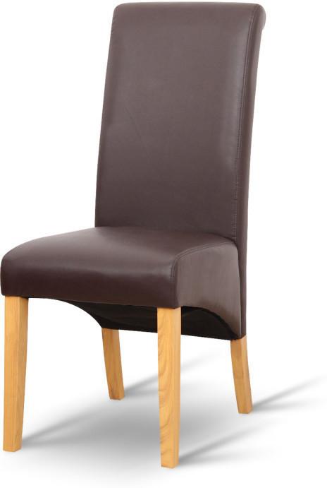 Jedálenská stolička, hnedá, prírodná, JUDY