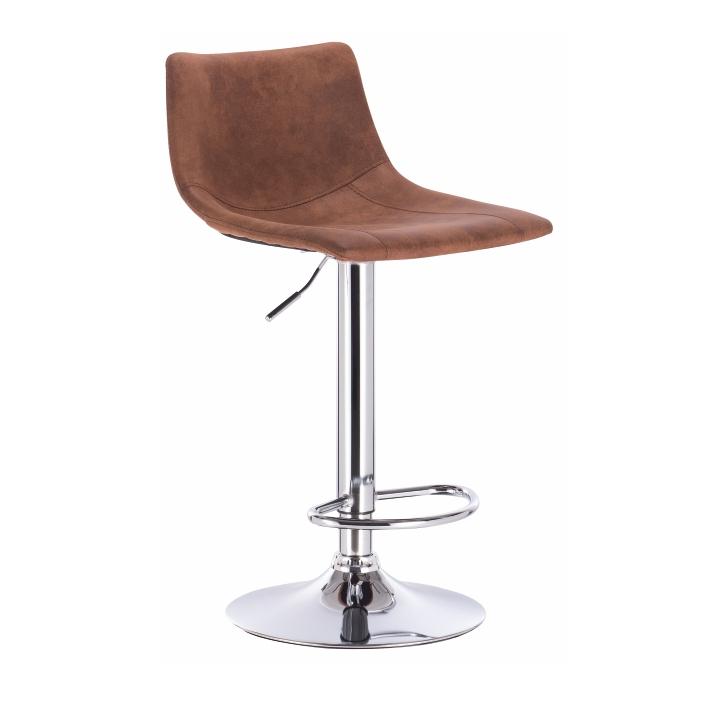 TEMPO KONDELA Barová stolička, hnedá/kov, LENOX
