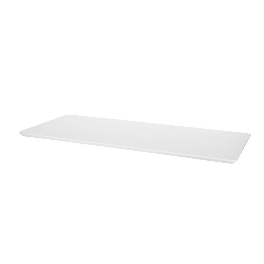 Biela prídavná doska k jedálenskému stolu Interstil Century, dĺžka 100 cm