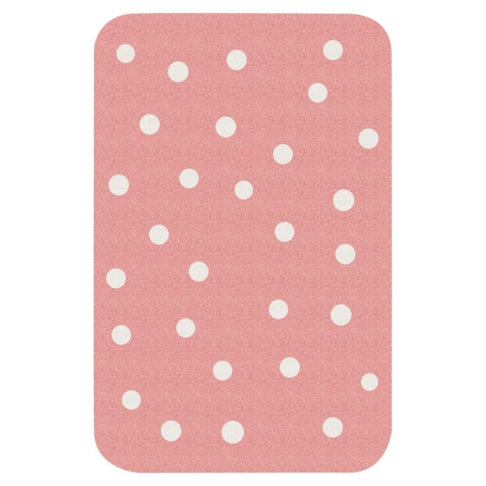 Detský ružový koberec Hanse Home Bodky, 67×120cm