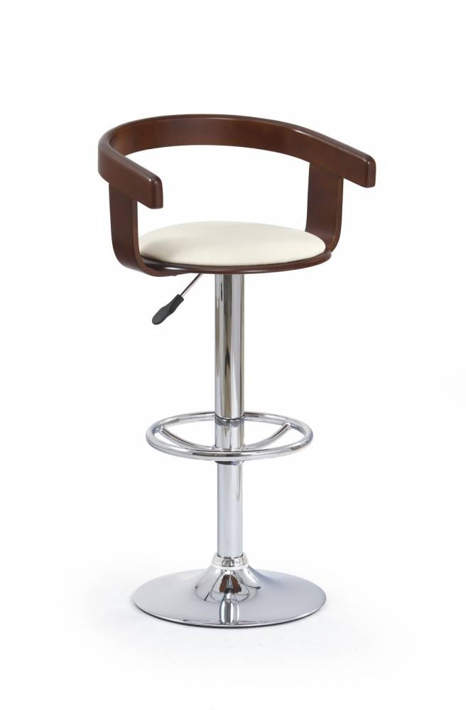 Barová stolička H-8 Čerešňa antická + Béž