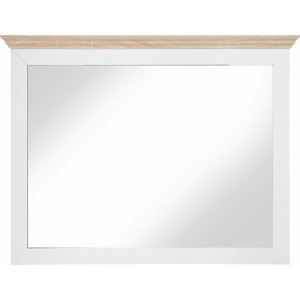 Biele drevené nástenné zrkadlo Støraa Montar
