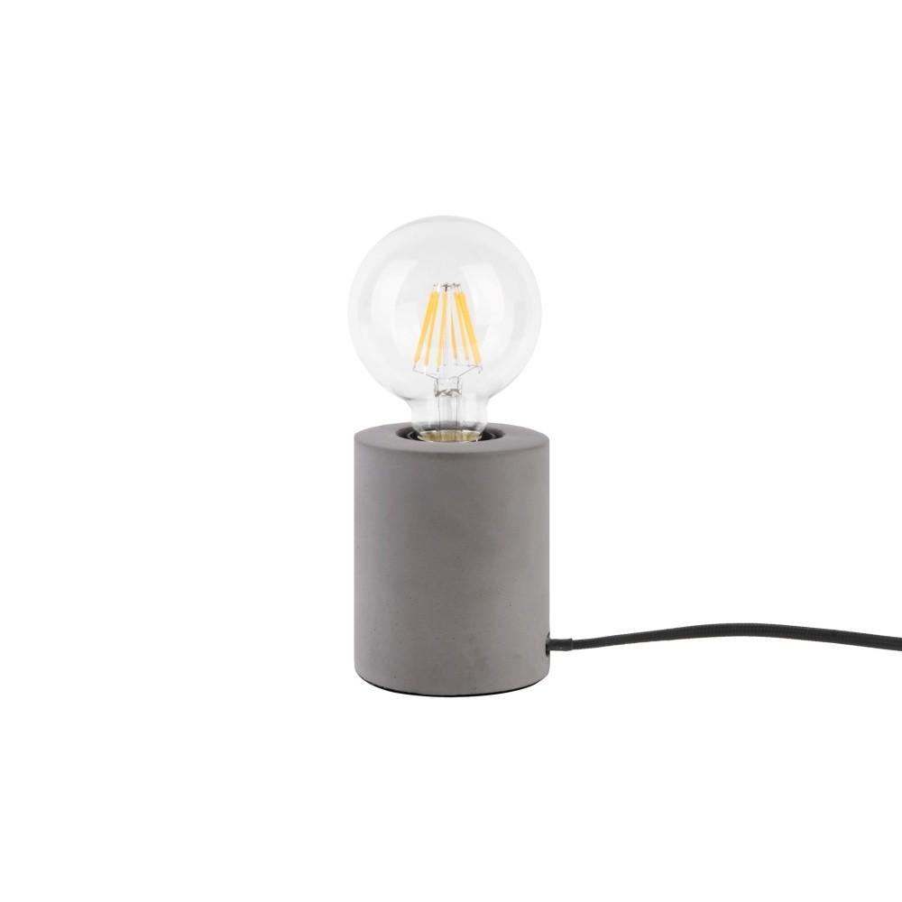 Stolová lampa so sivým mramorovým podstavcom Leitmotiv Bar