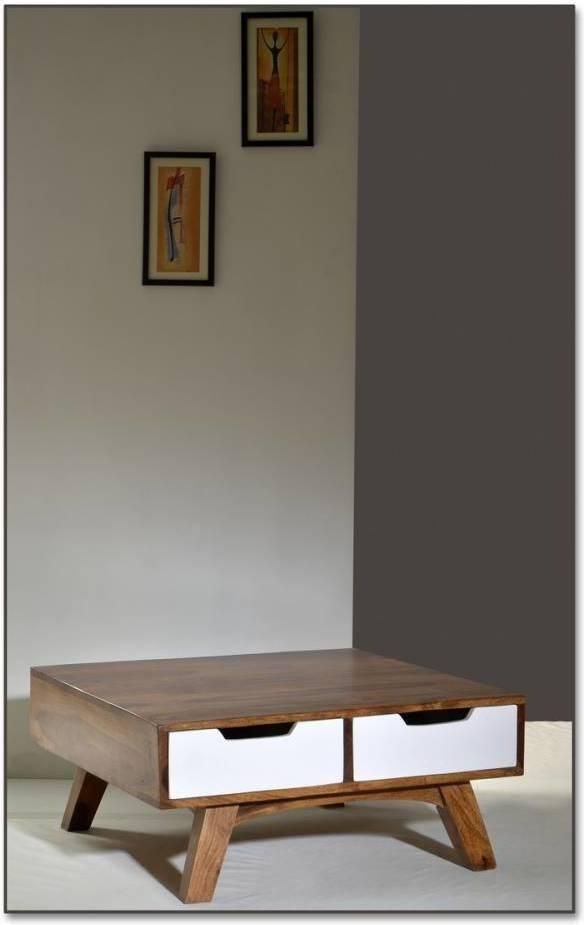 Konferenčný stolík SIXTO 80 cm - hnedá