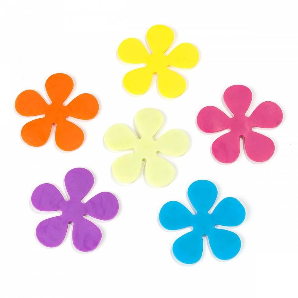 Protisklzové kvetinky do vany, 6 ks