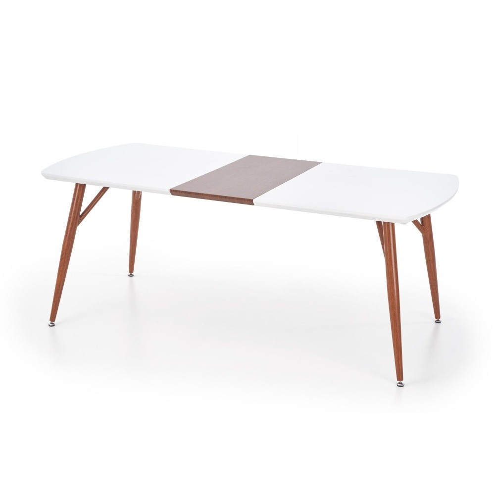 Rozkladací jedálenský stôl s detailom v dekore orechového dreva Halmar Richard, dĺžka 150 - 190 cm