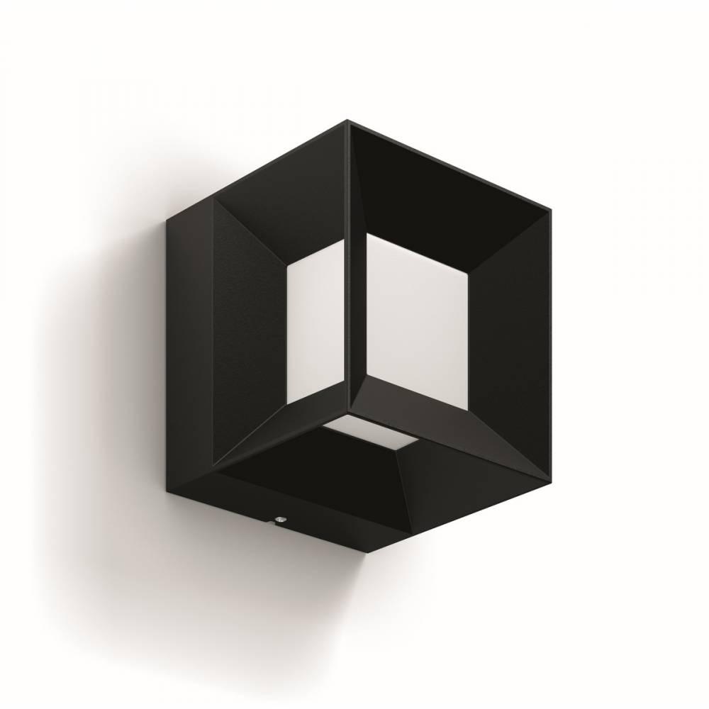 Philips 16480/30/P0 Parterre Vonkajšie nástenné LED svietidlo 13 cm, čierna