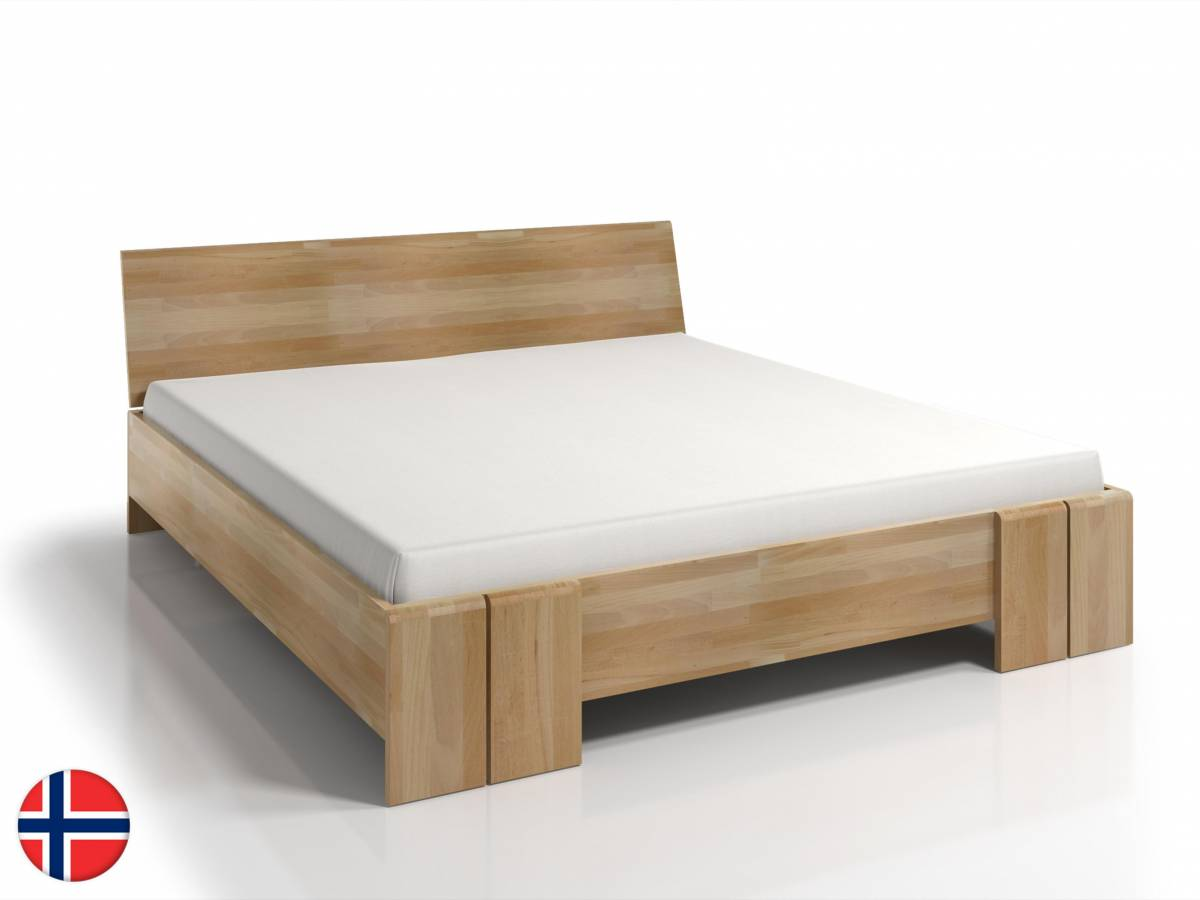 Manželská posteľ 200 cm Naturlig Galember Maxi (buk) (s roštom)