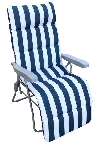 Rhodos, bielo-modré, polohovatelné