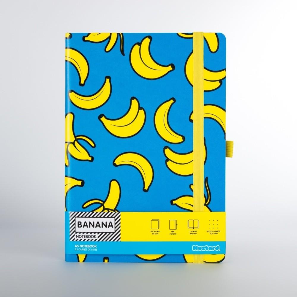 Zápisník s motívom banánov Just Mustard Banana