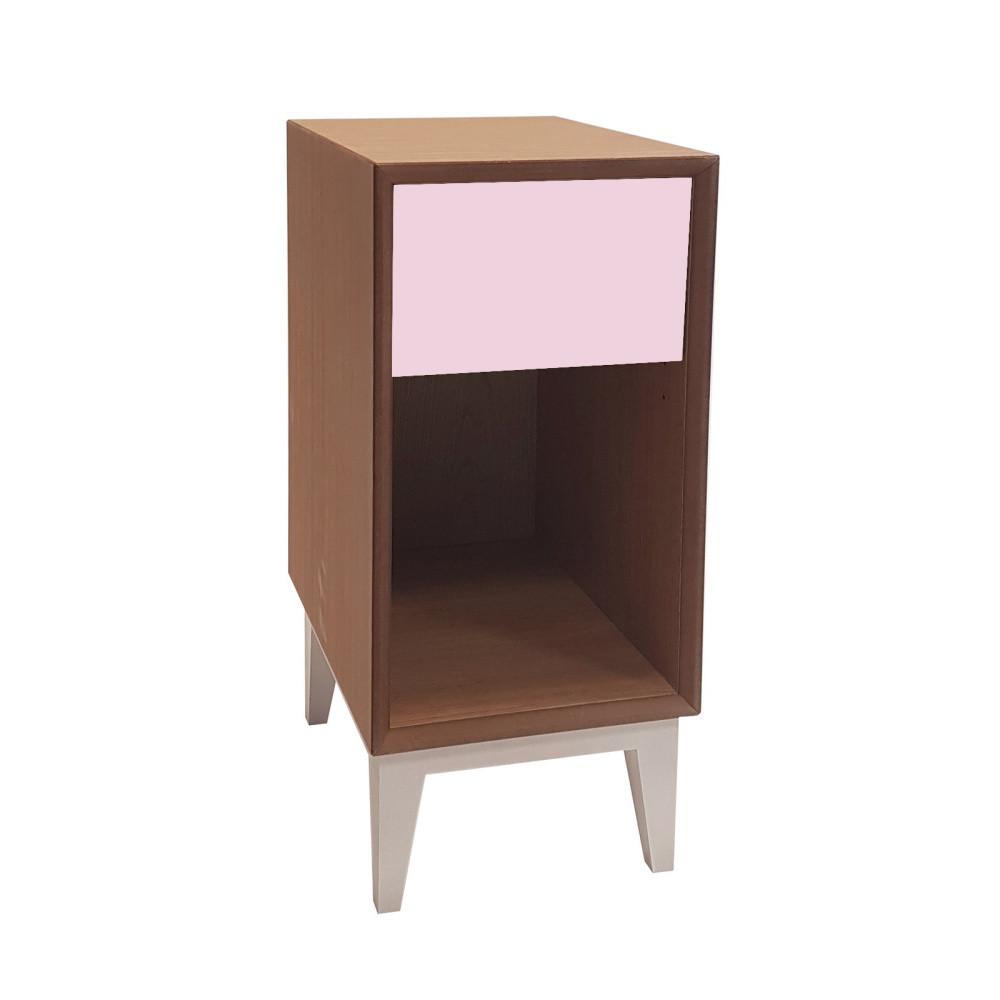 Malý nočný stolík s ružovou zásuvkou Ragaba PIX