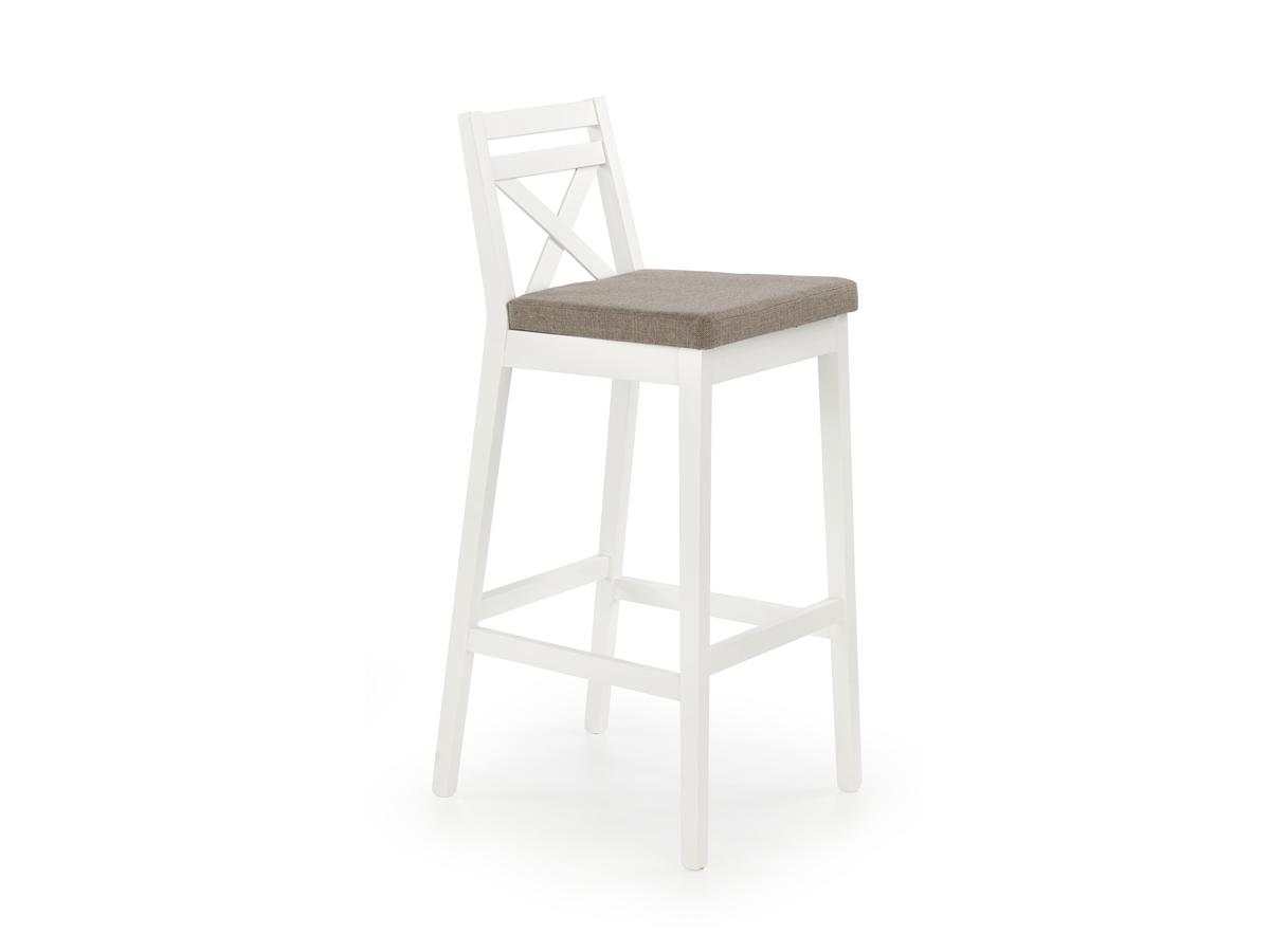Barová stolička Borys (biela + hnedá)