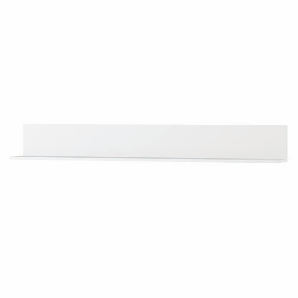 Biela polička Szynaka Meble Original, 165 cm