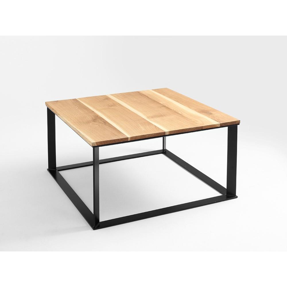 Konferenčný stolík s čiernym podnožím a dubovou doskou Custom Form Skaden