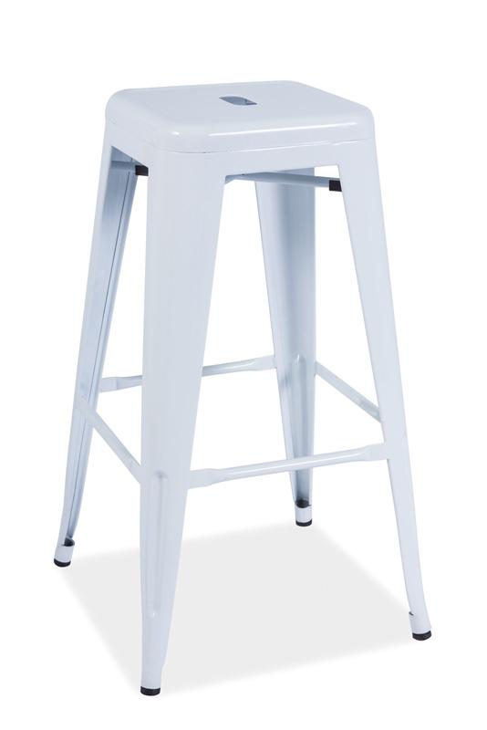 LANG barová stolička, biela